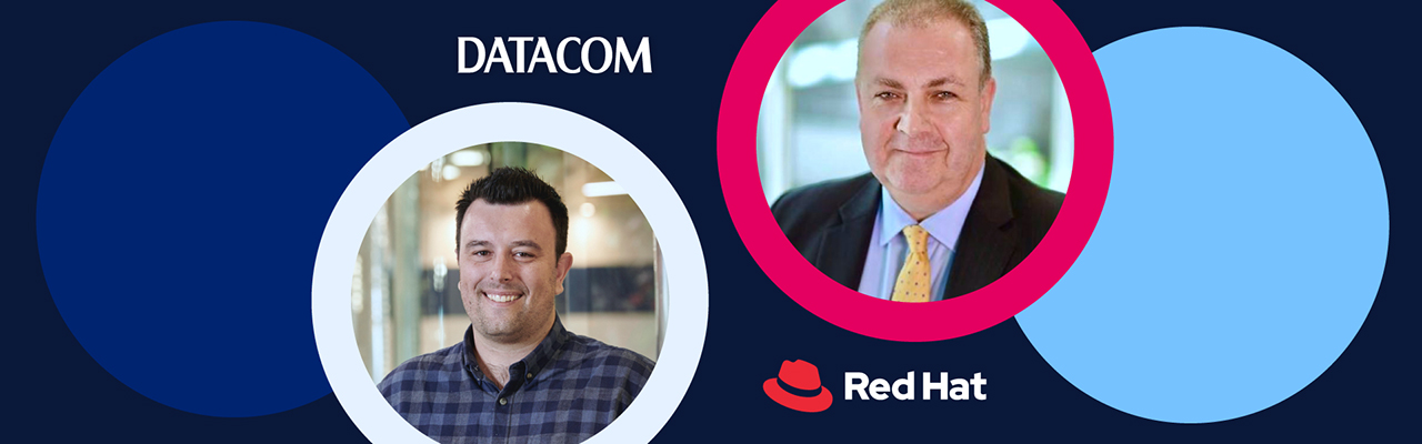 Partnership leaders Ross Delaney of Datacom and Garry Gray of Red Hat