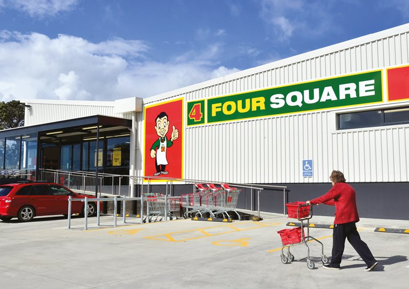 the exterior of a Four Square store