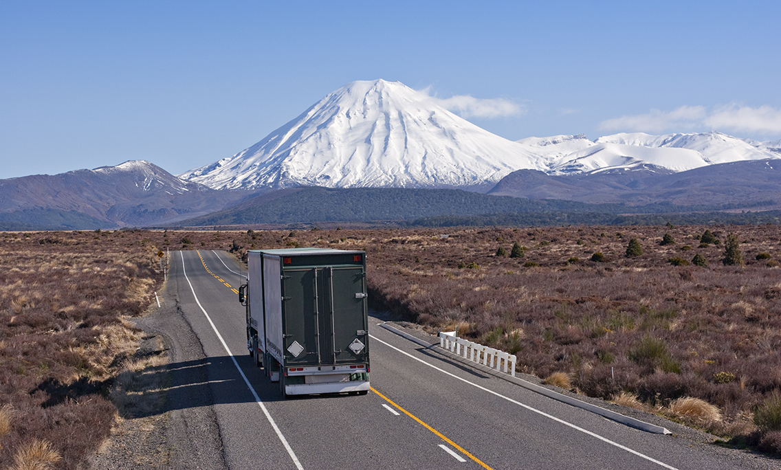 a truck on a New Zealand road